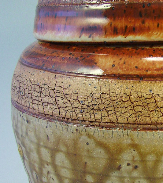 Ceramic glazed terracotta crackle vase